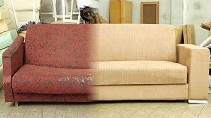Перетяжка дивана и ремонт своими руками